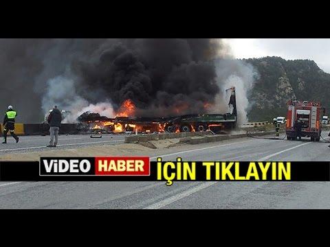 MİLAS'TA KAZADA YANARAK CAN VERDİ...