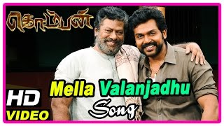 Komban Movie Scenes | Mella Valanjadhu song | Karthi stabbed | Stalin arrested for bribery