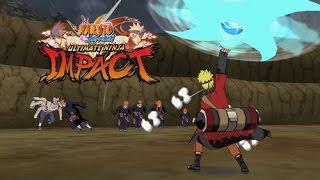 psp naruto shippuden ultimate ninja impact pain vs naruto sennin mode kyuubi 6 tails