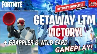 Fortnite: Getaway LTM VICTORY! Plus New GRAPPLER & Wild Card Gameplay!