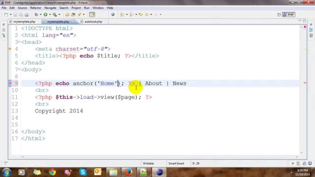 Templating in CodeIgniter - YouTube
