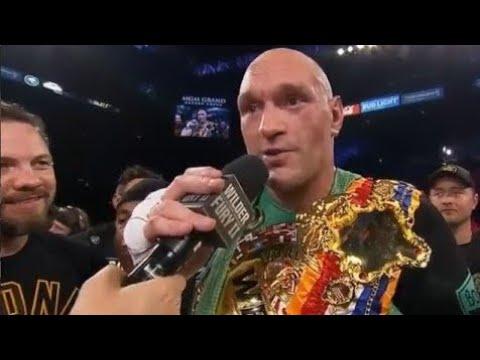 Tyson Fury Vs Deontay Wilder Post Fight Interview