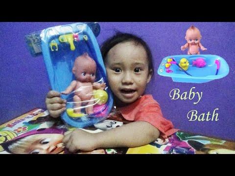 Toy Set Playing Kids Fun Baby Doll Bath Time ♥ Mainan Anak Boneka Bayi Mandi fde895fcac