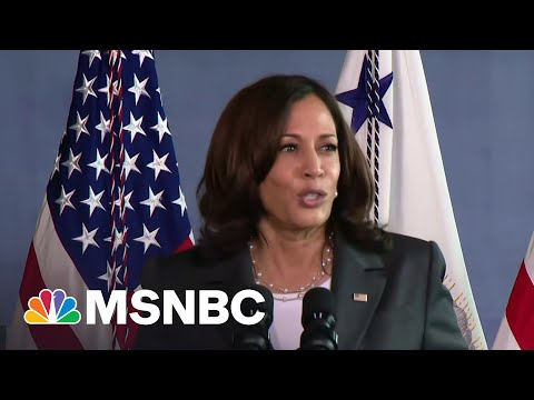 VP Harris Touts First 100 Days At Baltimore Vaccination Site | MSNBC