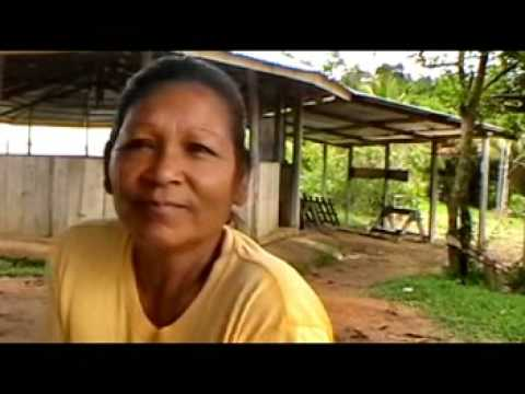 We visit an Arawak indian settlement and speak with some wom