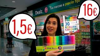 RETO:TIENDA DE 1,5€ vs TIENDA NORMAL | ¿cuál conviene más?