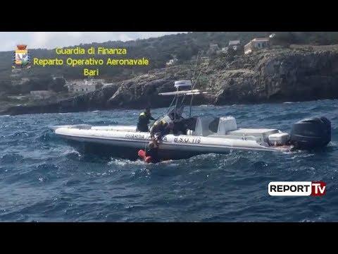 Report TV - Tentuan të trafikonin 1 ton kanabis në Itali, pranga skafistit shqiptar