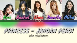 PRINCESS - JANGAN PERGI LIRIK (Versi Color Coded) #ipop #princess #janganpergi #lirik