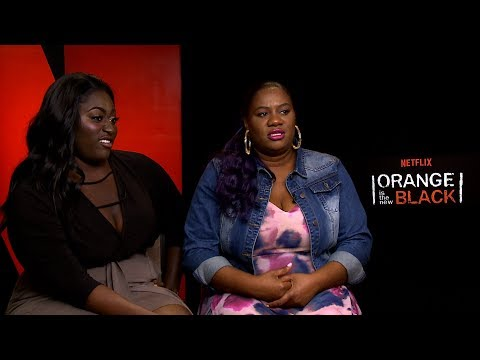with Danielle Brooks & Adrienne Moore for Season 5 of Orange Is The New Black