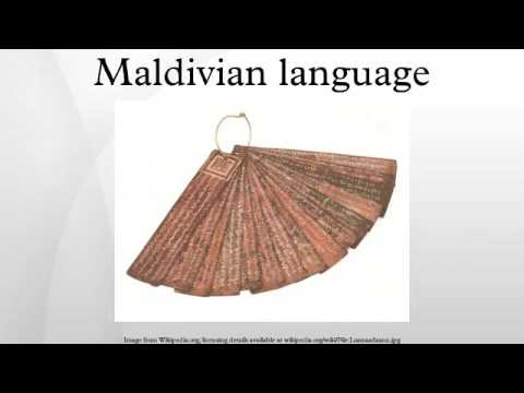 Maldivian language