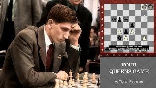 "Bobby Fischer's amazing Four Queens Chess Game against ""Iron Tiger"" Tigran Petrosian! 1959"