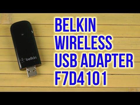 DOWNLOAD DRIVER: BELKIN WIRELESS USB ADAPTER F7D4101