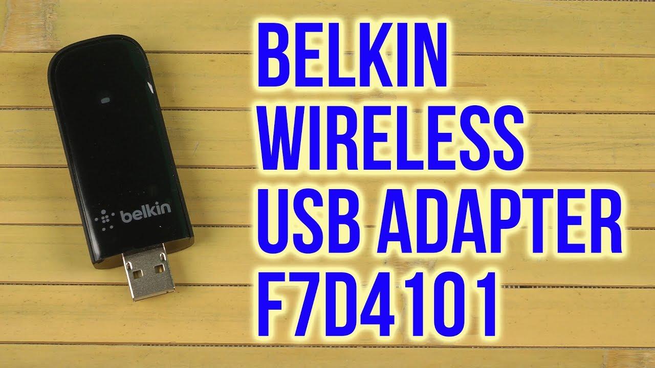 BELKIN WIRELESS USB ADAPTER F7D4101 WINDOWS 7 DRIVER