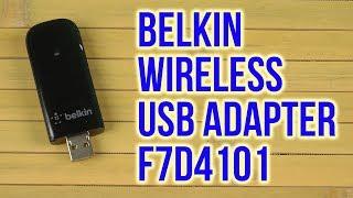 Розпакування Бєлкін моделі N600 мікро безпровідний USB адаптер F7D4101
