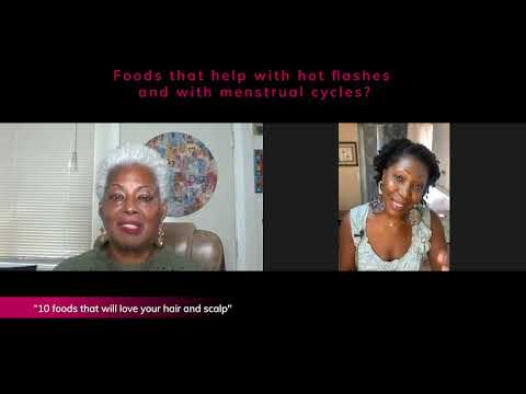 Foods that help with hot flashes