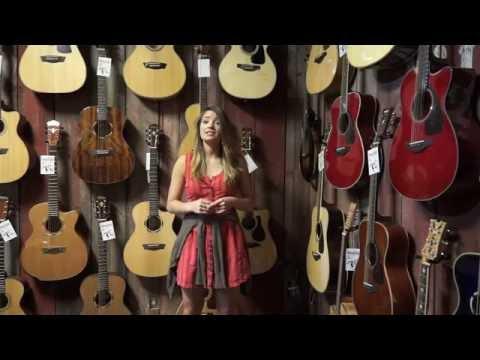 Martin D JR 2E Junior Acoustic Electric Guitar Demo with Maria