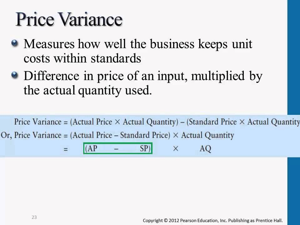 Variance Analysis - Managerial Accounting