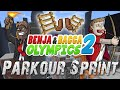 Salty Crackers Challenge Benja & Bacca Olympics 2: FLASH PARKOUR - Game 9! (Minecraft)