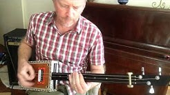How to Play Seven Nation Army by the White Stripes on a 3 string slide cigar box guitar