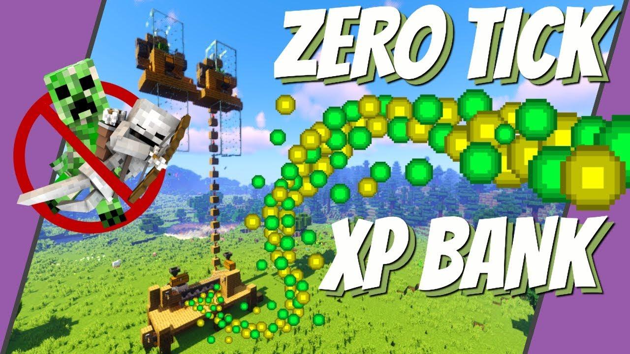 Minecraft XP Farm: No Mob XP Bank Zero Tick Farm Minecraft 10.104+  XP When  You Need It (Avomance)