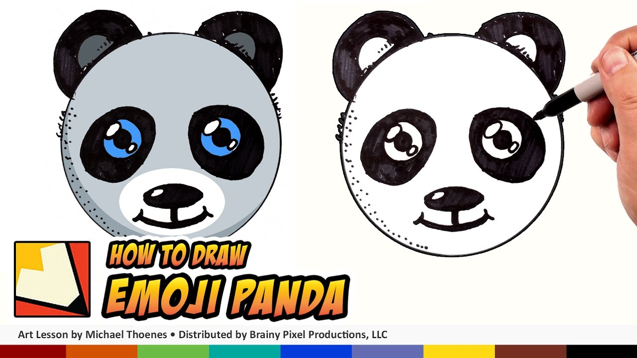 How To Draw A Cute Panda Emoji For Beginners Step By