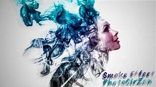 🔴  Уроки фотошопа. Самый простой эффект в фотошопе. | Smoke Effect