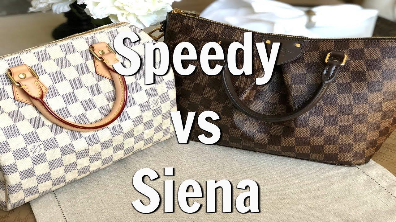 fd5f181af1 Louis Vuitton Siena PM vs Speedy B25 - YouTube