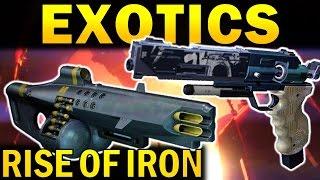 Destiny: All Rise of Iron Exotics Revealed so far!