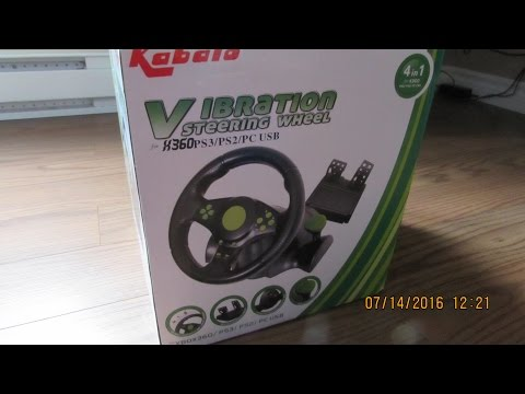 Unboxing The Kabalo Gaming Vibration Racing Steering Wheel 23cm And Pedals For PS4 PS3 PC USB