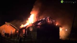 Pożar budynku gospodarczego w Długiem 1 03 2015