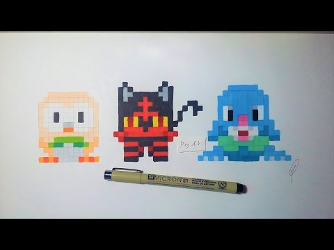 Pokemon Moon Starter Handmade Pixel Art Youtube