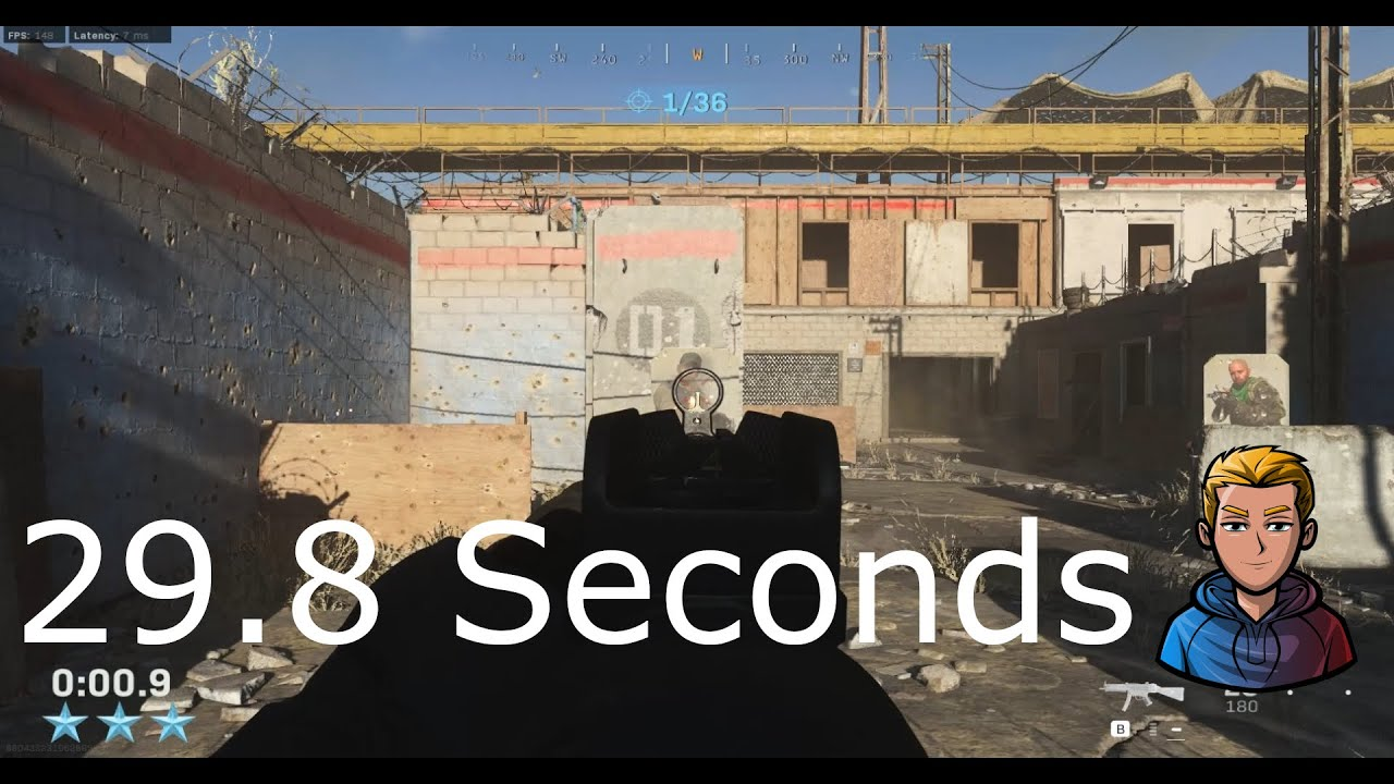Call Of Duty Modern Warfare 2019 Gun Course Trial 29.8sec - ChiiLoX