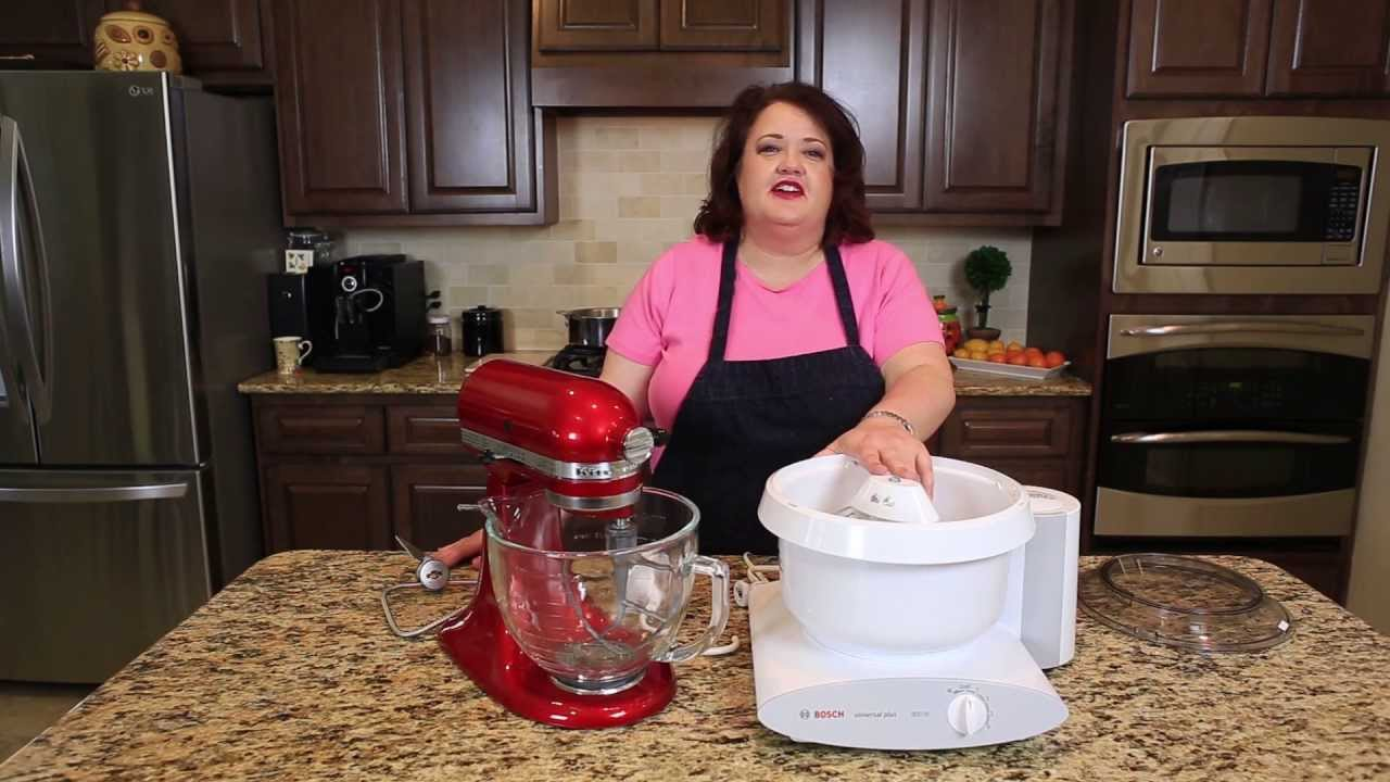 Mixer Reviews Bosch Mixer Vs Kitchenaide Youtube