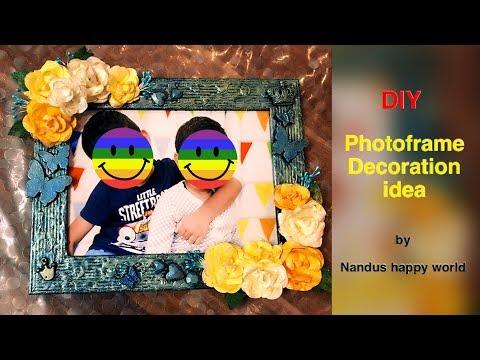 Photo frame decoration ideas | photo frame | DIY photo frame decoration ideas