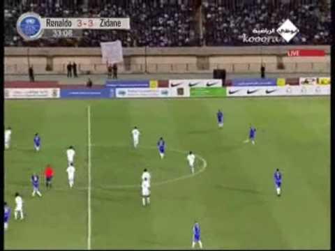 Zidane vs Ronaldo. Match against poverty (All Goals).