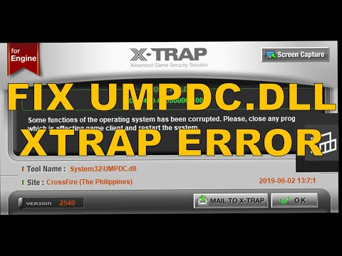 How to fix UMPDC.DLL xtrap error in CF || Crossfire PH Video