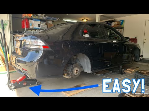 Saab 9-3 Quick Fix – How to Properly Jack Up Your 9-3!