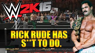 WWE 2K16 Online - RICK RUDE HAS S**T TO DO. (Triple Threat)