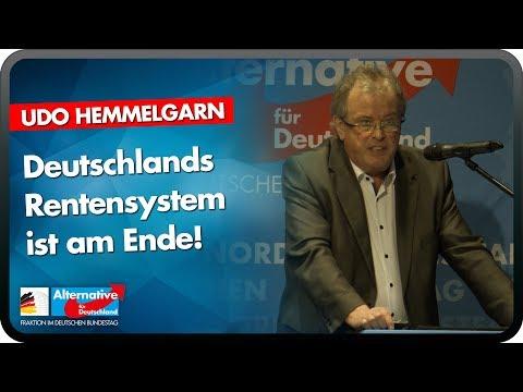 Deutschlands Rentensystem ist am Ende! - Udo Hemmelgarn - AfD-Fraktion im Bundestag