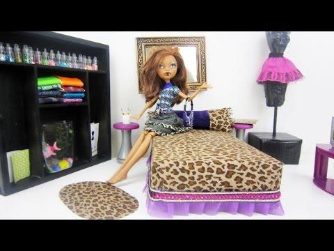 Manualidades para muñecas: Haz una cama para la muñeca Monster High Clawdeen Wolf