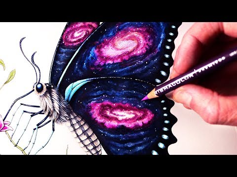 Let's Draw a GALAXY BUTTERFLY - FANTASY ART FRIDAY
