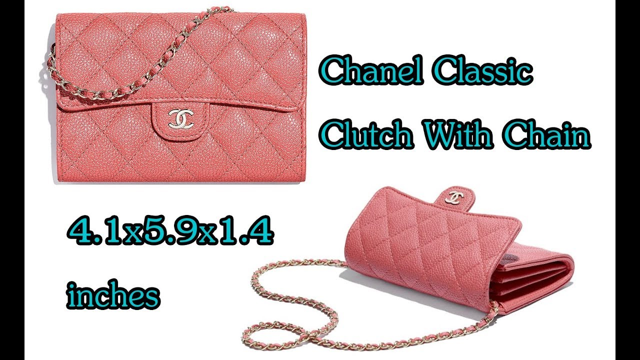bc73c6b5e6a3 รีวิว Chanel Classic Clutch With Chain Chanel Pink Caviar Bag Review ...