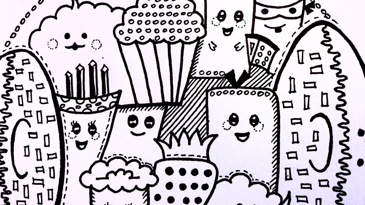 Doodle Challenge Food Doodles Cute Doodle Characters