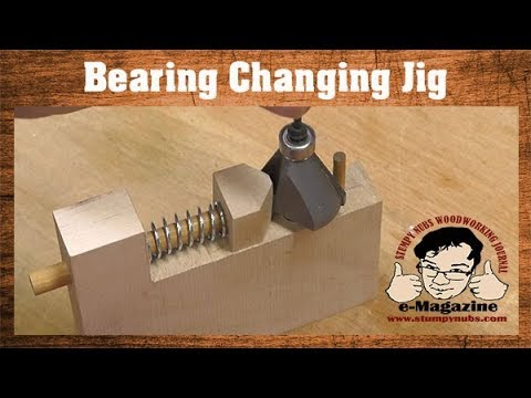 A cool jig for changing your router bit's bearings!