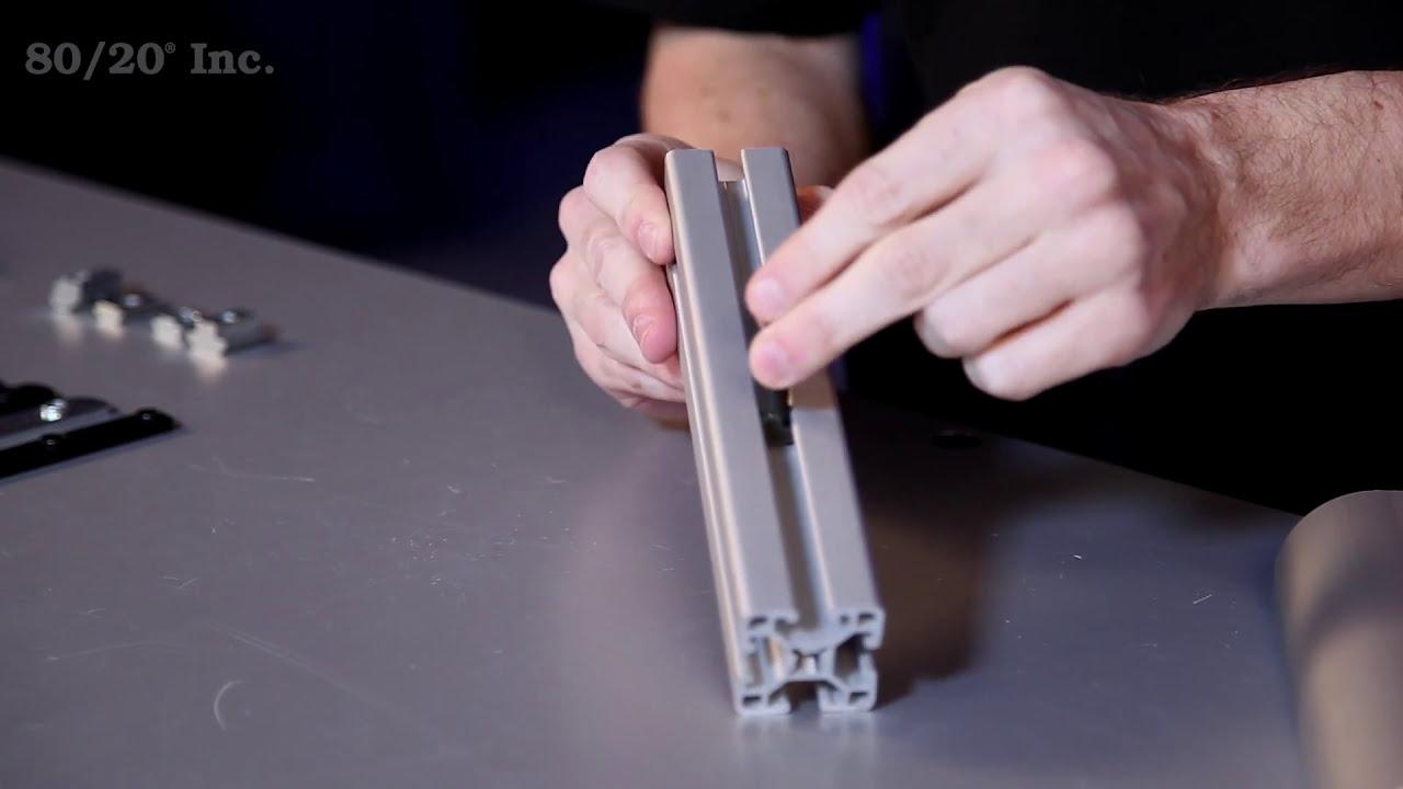 80//20 40 Series Self Aligning Slide-In T-Nut W//Ball Spring