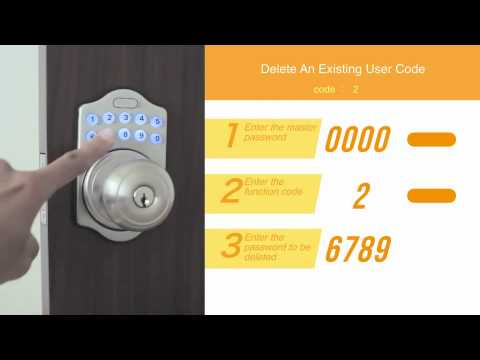 EZSETInstallation of Electronic Keypad Knob Lock YouTube