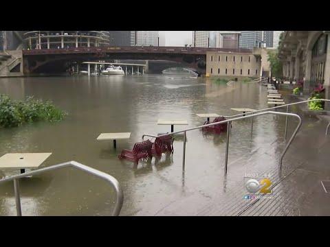 Storms Swamp Chicago; Flood Riverwalk
