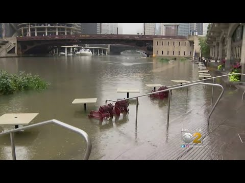 Storms Swamp Chicago; Flood Riverwalk