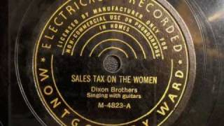 Sales Tax On The Women - Dixon Brothers