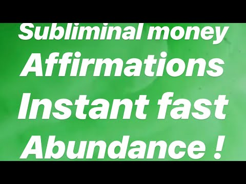 Subliminal Money Affirmations! Instant fast Abundance! 🎧